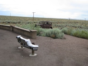 Route 66 Monument in Park
