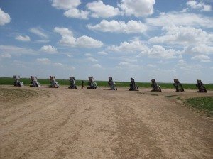 Cadillac Ranch from Road