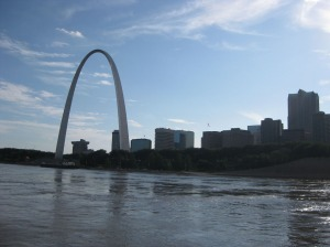 St. Louis as viewed from Mississippi